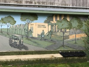 a mural depicting the greenhouse
